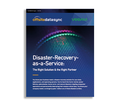 DISASTER RECOVERY AS A SERVICE   THE RIGHT SOLUTION & THE RIGHT PARTNER